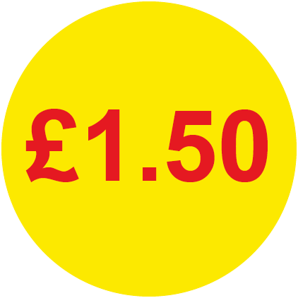 £1.50 Round Price Labels