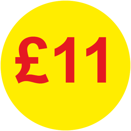 £11 Round Price Labels