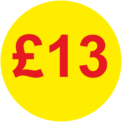 £13 Round Price Labels