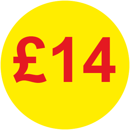 £14 Round Price Labels
