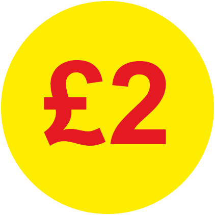 £2 Round Price Labels