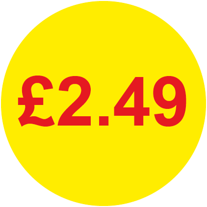 £2.49 Round Price Labels