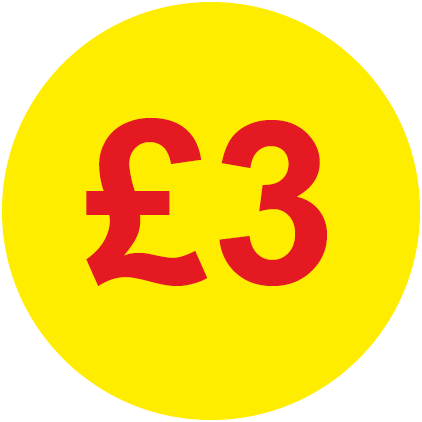 £3 Round Price Labels