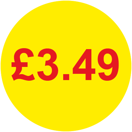 £3.49 Round Price Labels