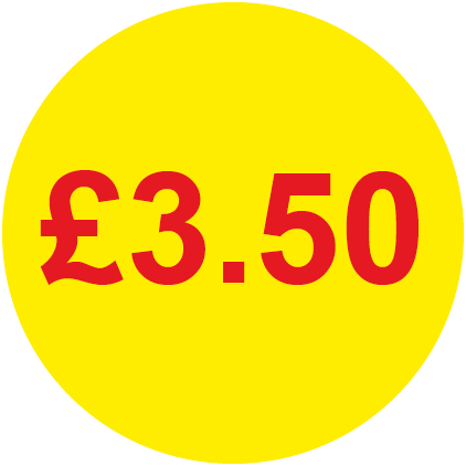 £3.50 Round Price Labels