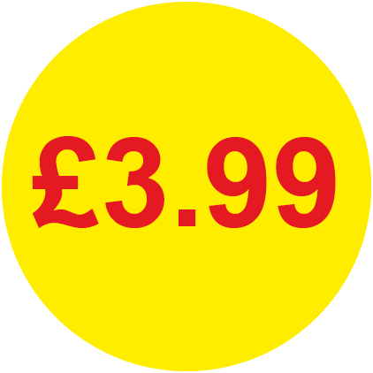 £3.99 Round Price Labels