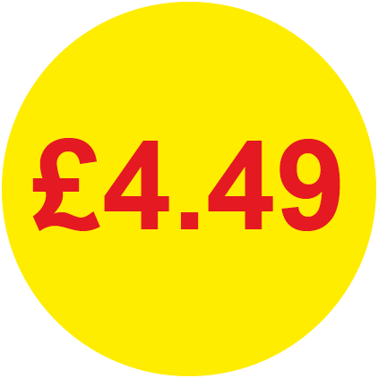 £4.49 Round Price Labels