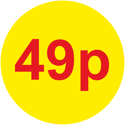 49p Round Price Labels