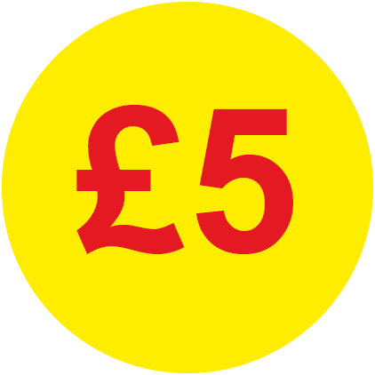 £5 Round Price Labels