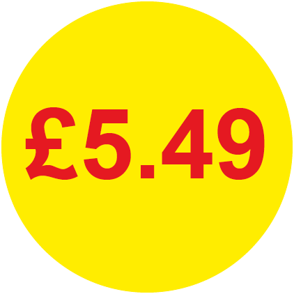 £5.49 Round Price Labels