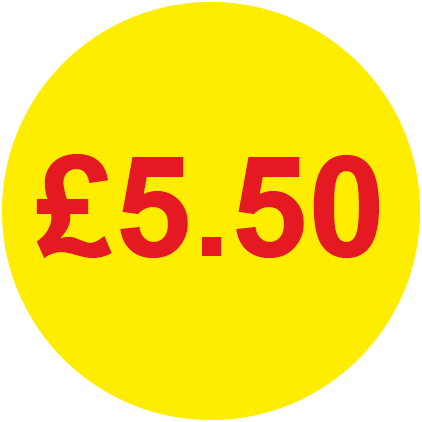 £5.50 Round Price Labels
