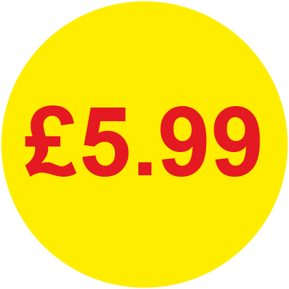 £5.99 Round Price Labels
