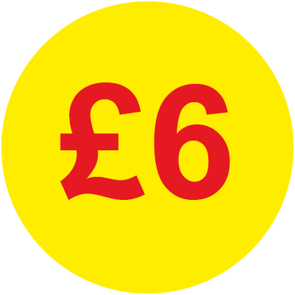 £6 Round Price Labels