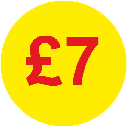 £7 Round Price Labels