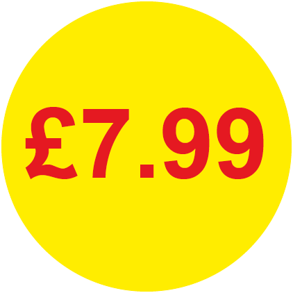 £7.99 Round Price Labels