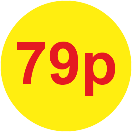 79p Round Price Labels