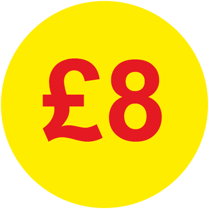 £8 Round Price Labels