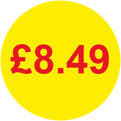 £8.49 Round Price Labels