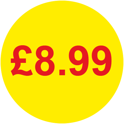 £8.99 Round Price Labels