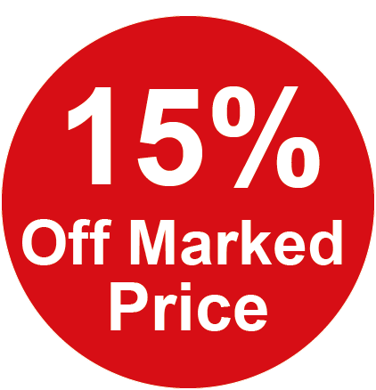 15% Off Marked Price Round Sales Labels