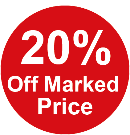 20% Off Marked Price Round Sales Labels