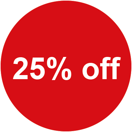 25% Off Round Sales Labels