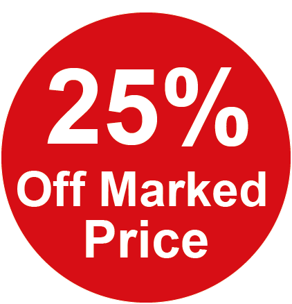 25% Off Marked Price Round Sales Labels
