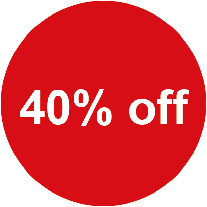 40% Off Round Sales Labels