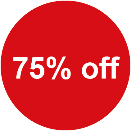 75% Off Round Sales Labels