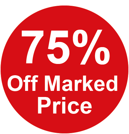 75% Off Marked Price Round Sales Labels
