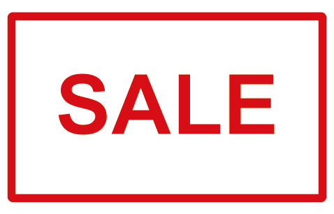 SALE Red Border Rectangle Label