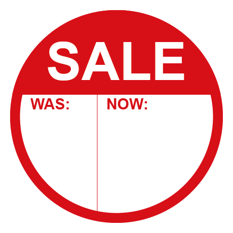 SALE Was & Now Panel Round Labels