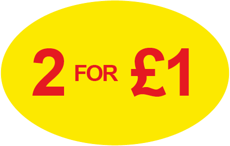 2 for £1 Special Offer Labels