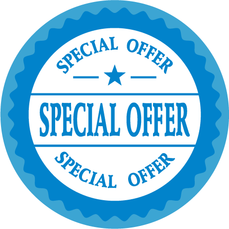 Blue Special Offer Round Labels