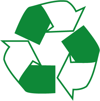 Recycling Arrow Logo Square Labels