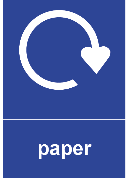 Paper Rectangle Recycling Labels