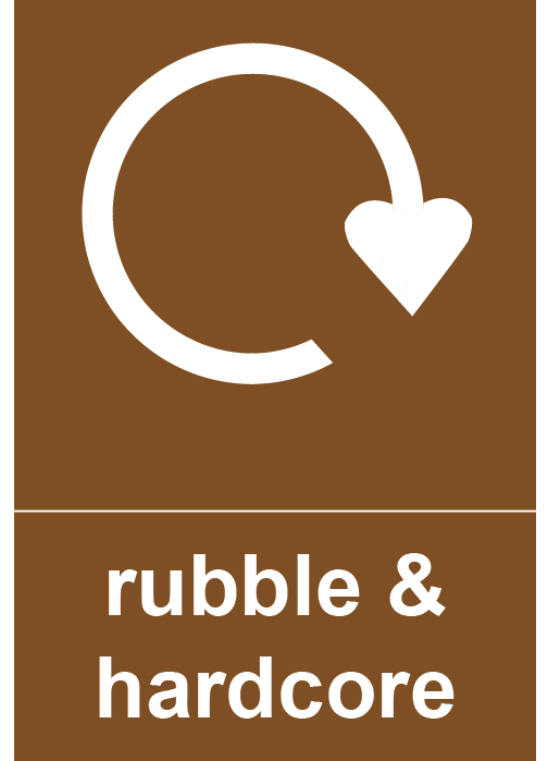 Rubble & Hardcore Rectangle Recycling Labels