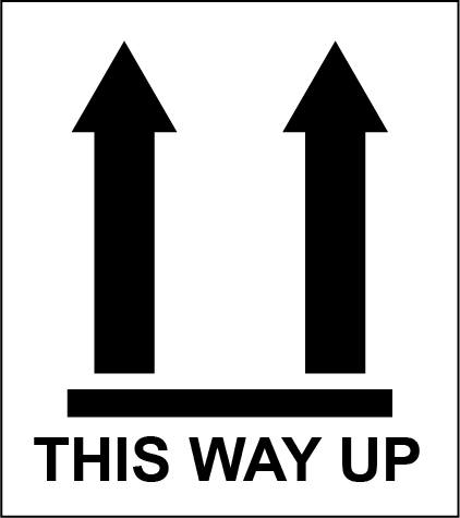 This Way Up 1 Rectangle Shipping Labels