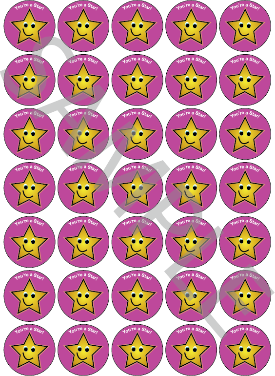 You're A Star Reward Stickers Pink