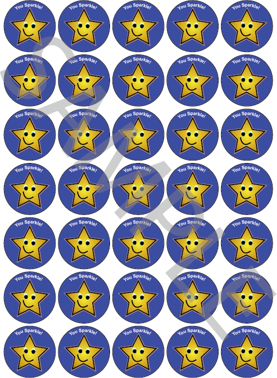 You Sparkle Reward Stickers Dark Blue