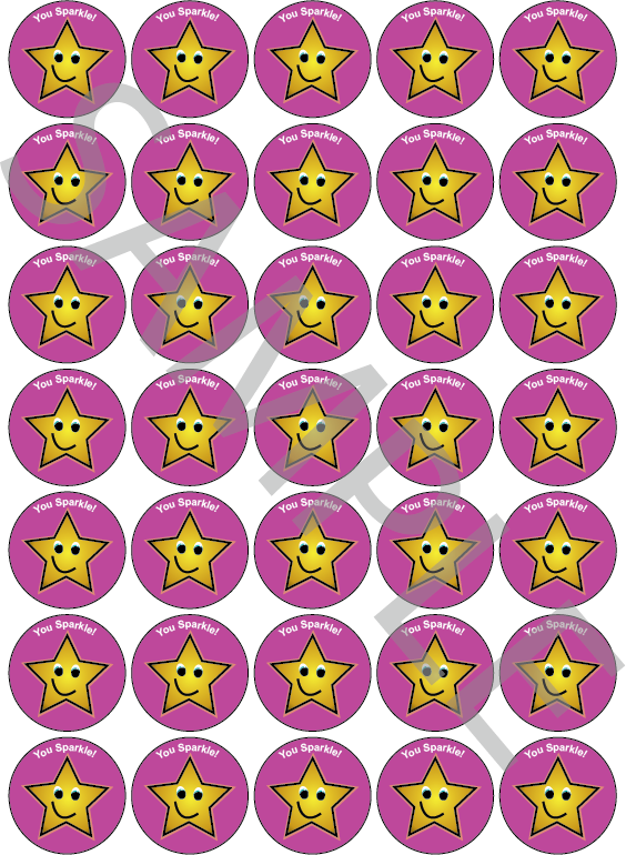 You Sparkle Reward Stickers Pink